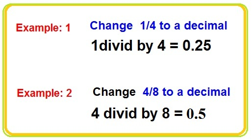 How to Change a Fraction to a Decimal and Decimals to Fractions