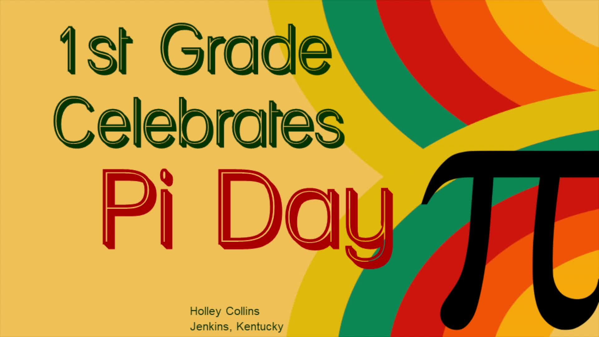 Pi Day in First Grade