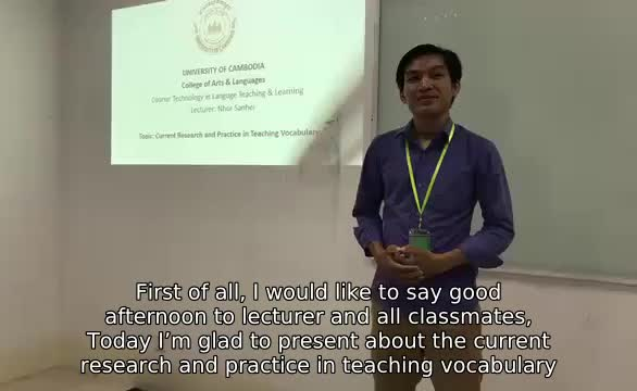 Vocabulary Teaching Approaches in English Subtitle, Part 1