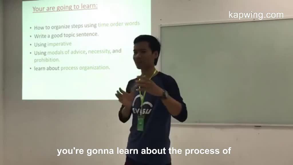 Process paragraph writing by Sousdey