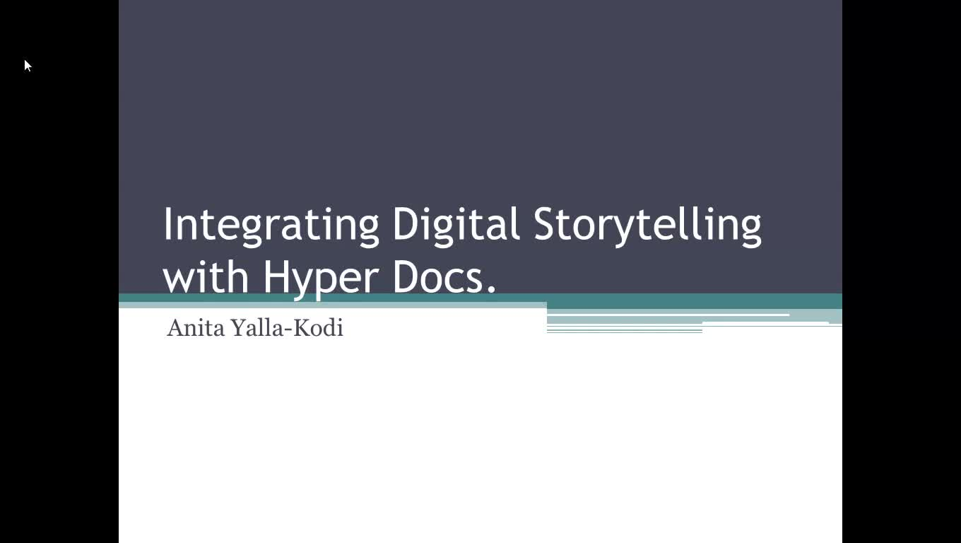 Integrating Storytelling using HyperDocs