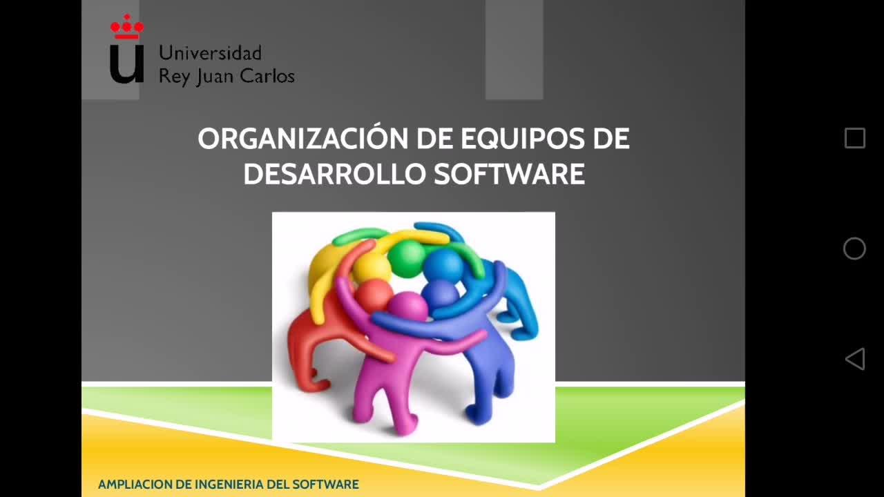 Organización de equipos de desarrollo software