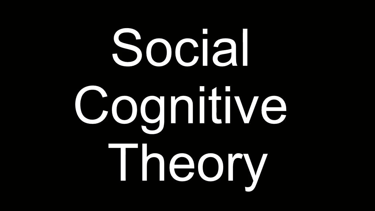 Social Cognitive Theory Run Down