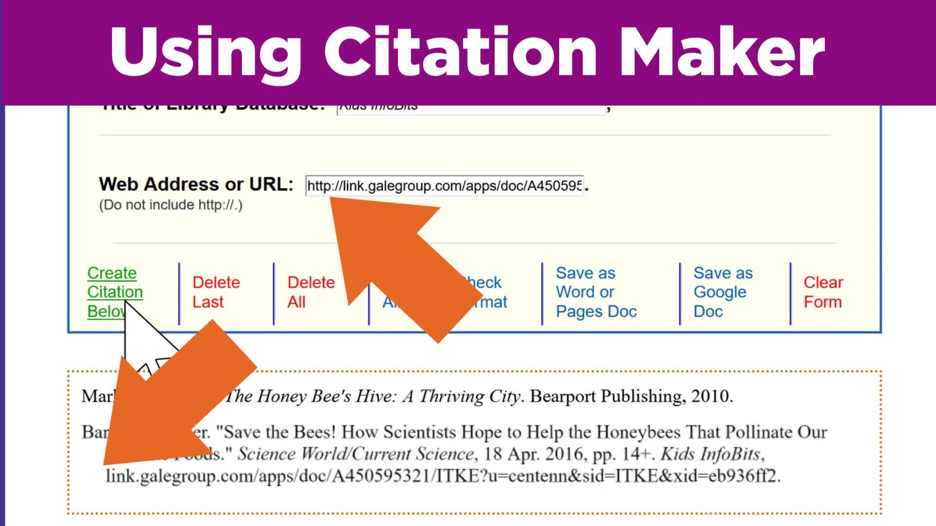Using Citation Maker