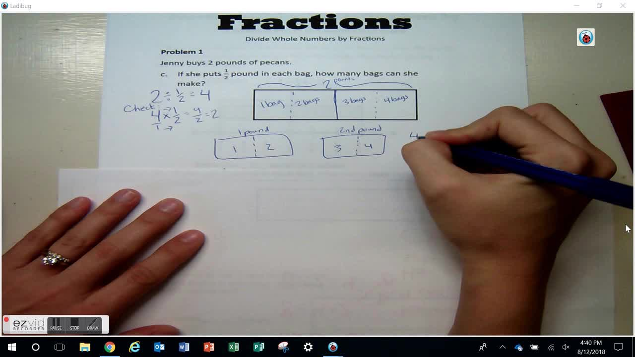 Day 20 Dividing Whole Numbers by Fractions