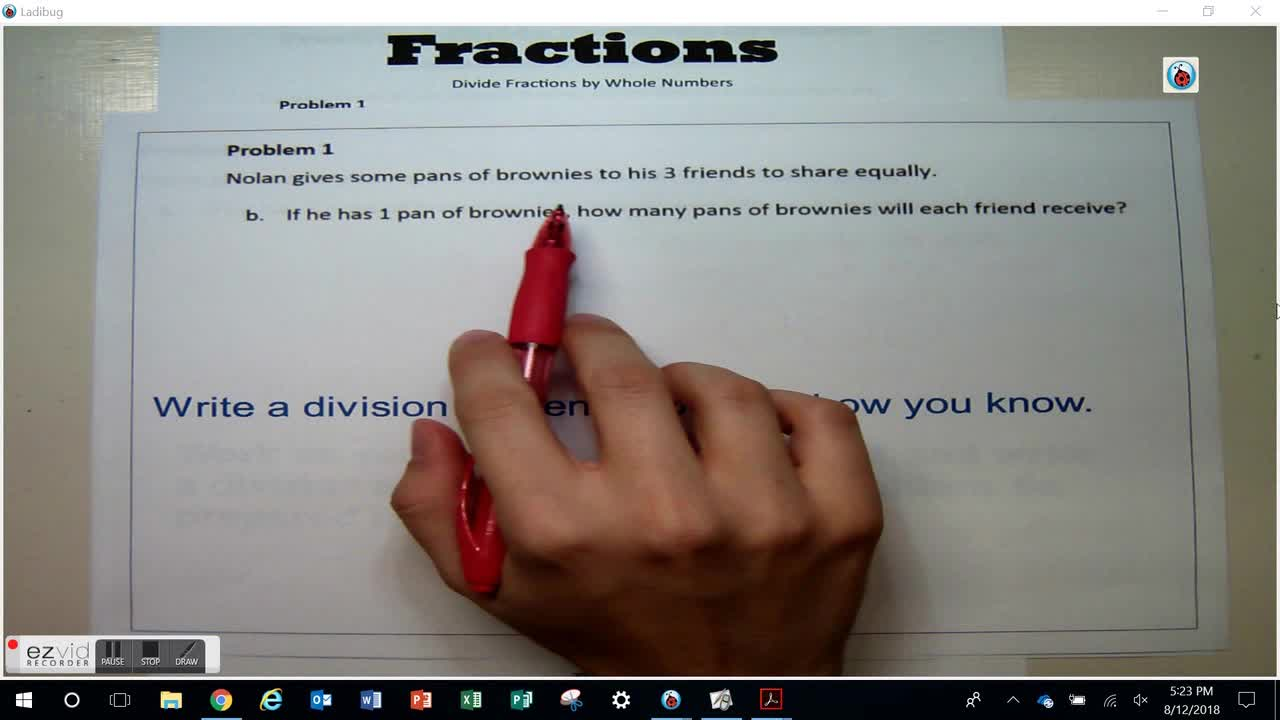 Day 21 Divide Fractions by Whole Numbers