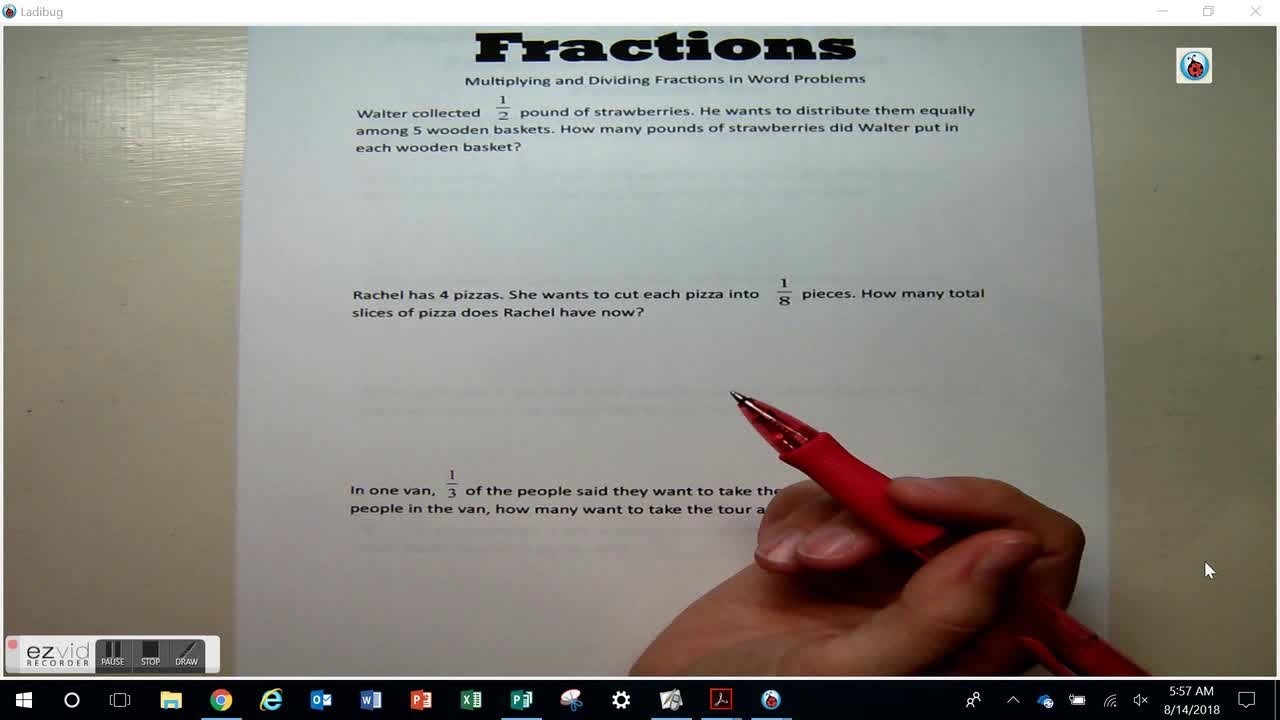 Day 23 Multiplying and Dividing in Word Problems