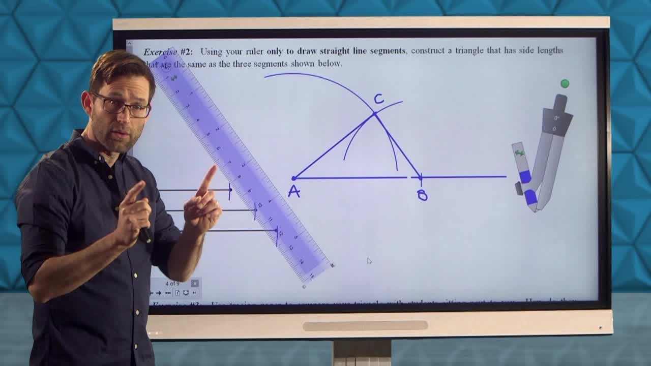 Common Core Geometry Unit 1 Lesson 6 Constructing a Triangle Given Its Sides