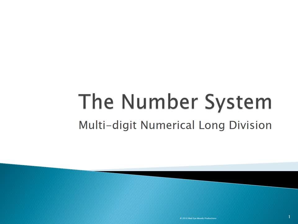 Long Division Video Lesson 1819