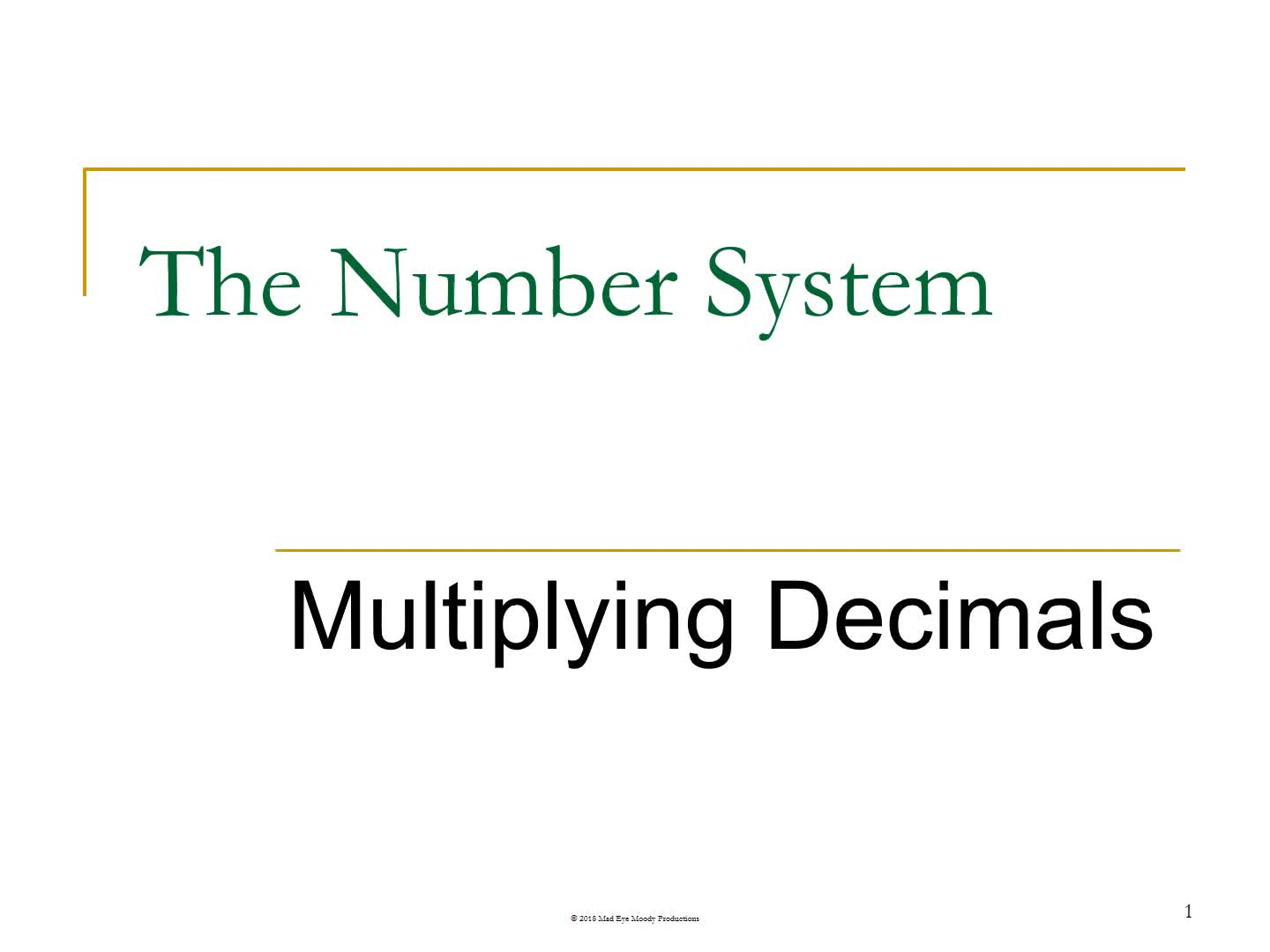 Multiplying Decimals 1819