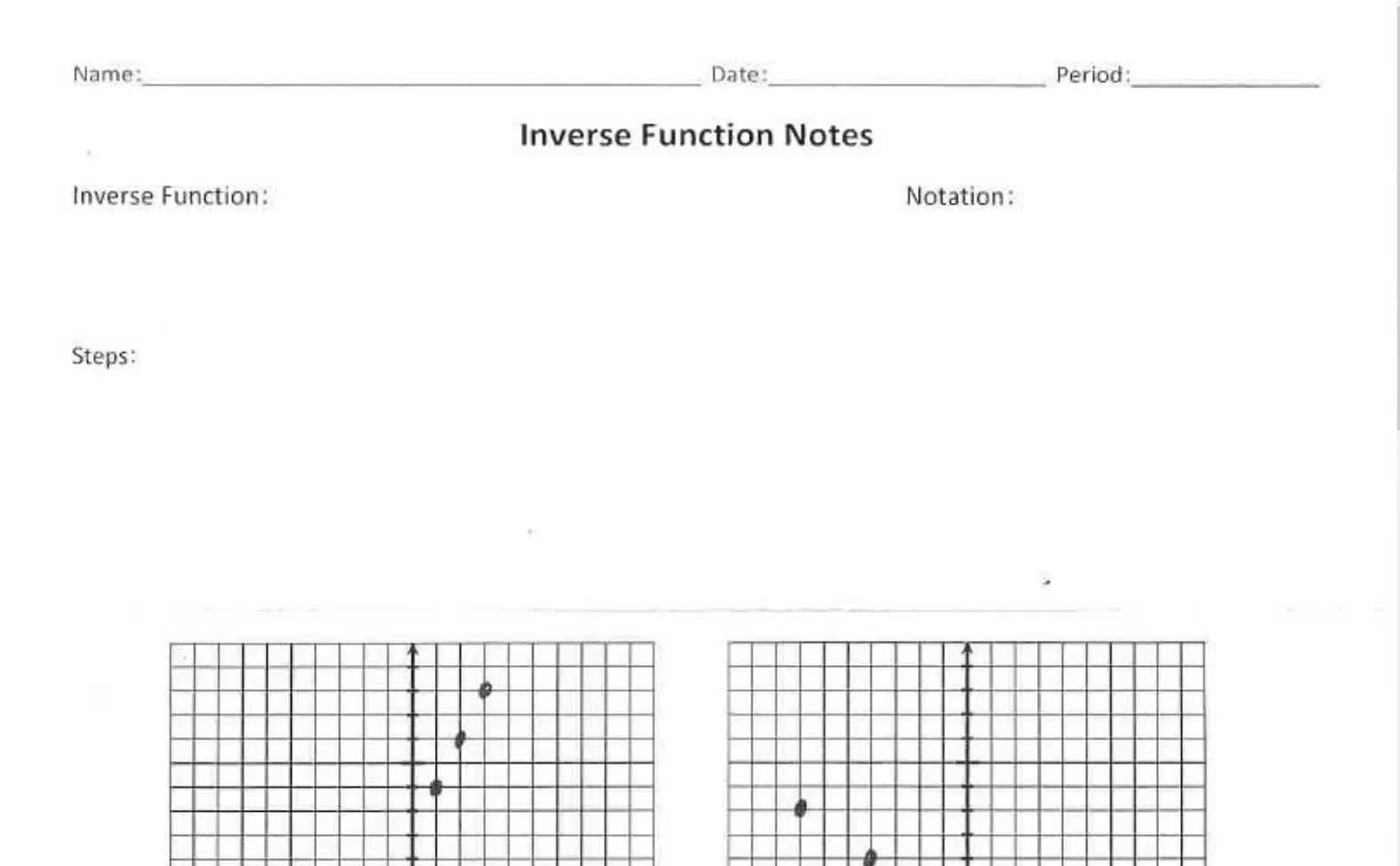 Senior Inverse From Graphs Notes