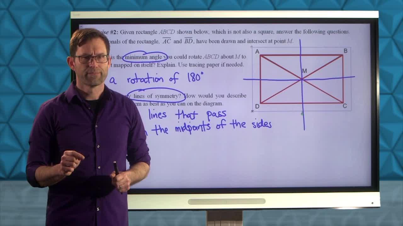 Common Core Geometry Unit 2 Lesson 9 Symmetries of a Figure