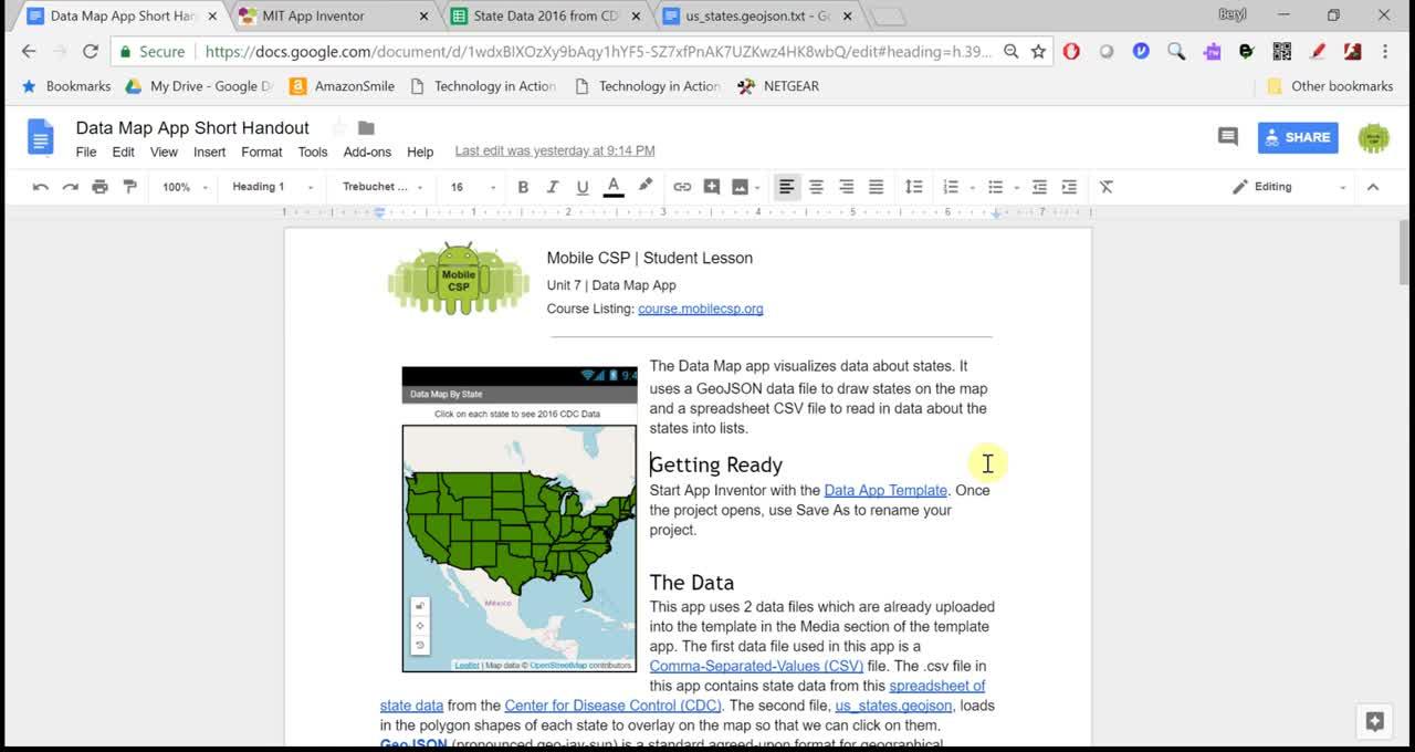 Data Map App Tutorial