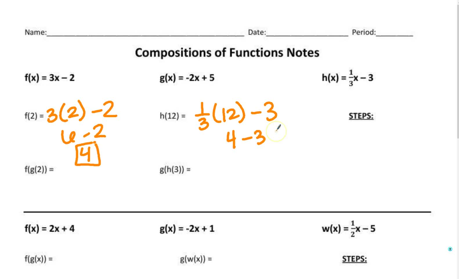 Composition of Function Notes 2018
