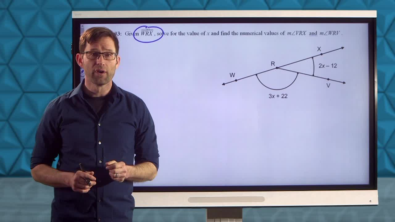 Common Core Geometry Unit 1 Lesson 3 Types of Angles