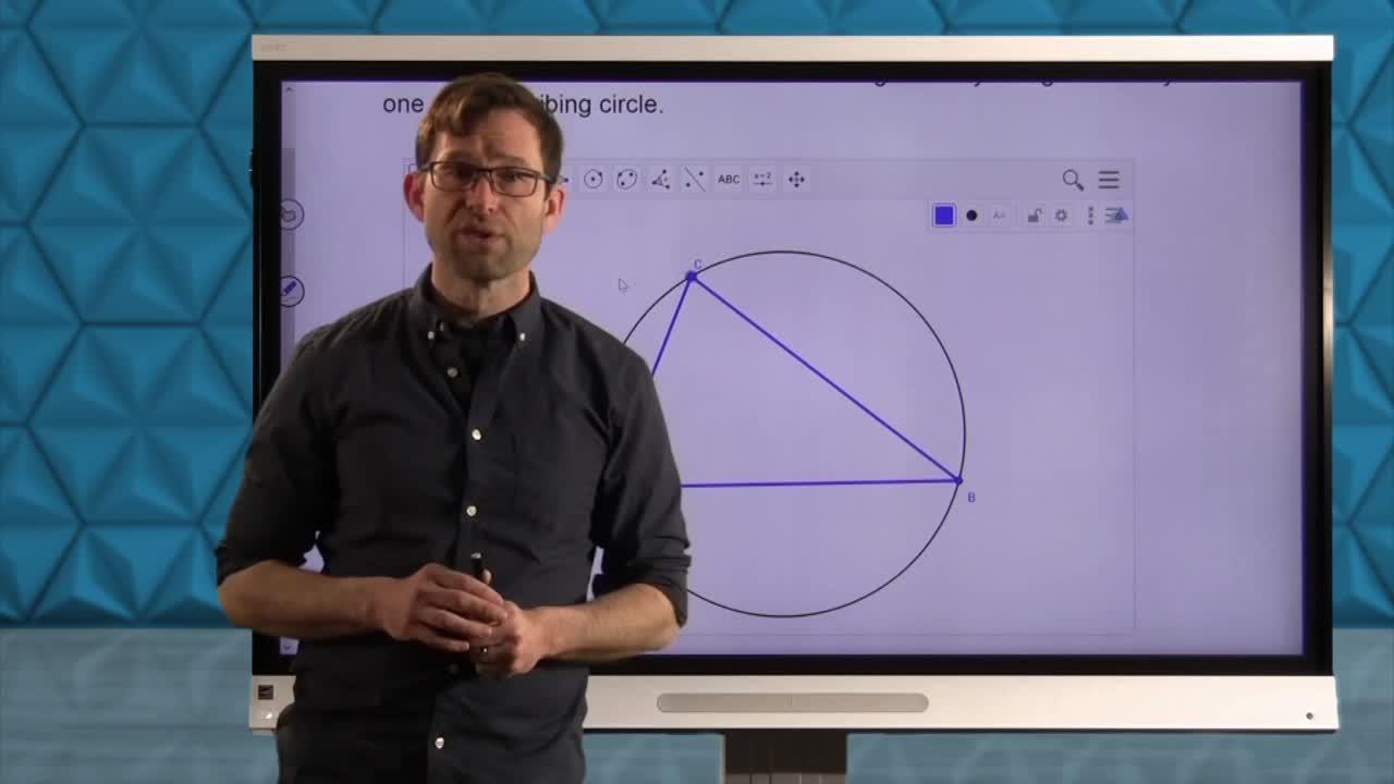 Common Core Geometry Unit 4 Lesson 4 The Circumscribed Circle