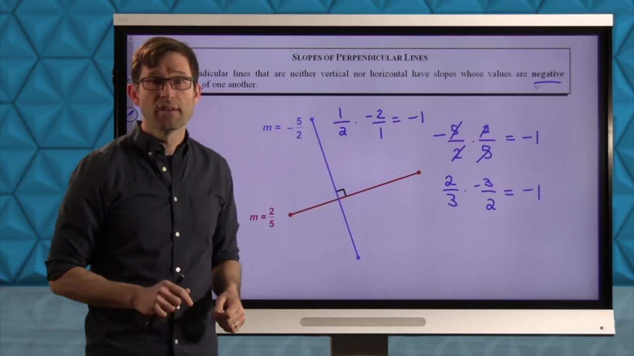Common Core Geometry Unit 5 Lesson 2 Slope and Perpendicularity