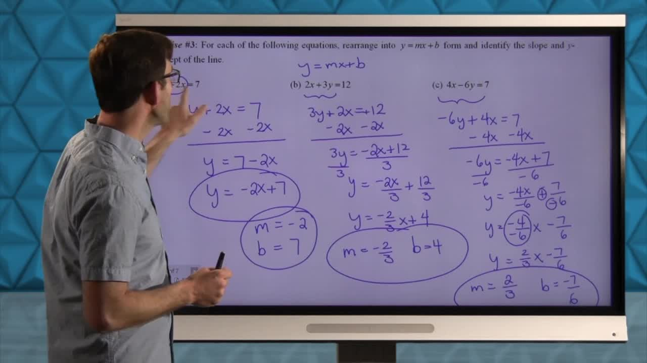 Common Core Geometry Unit 5 Lesson 3 Equations of Lines