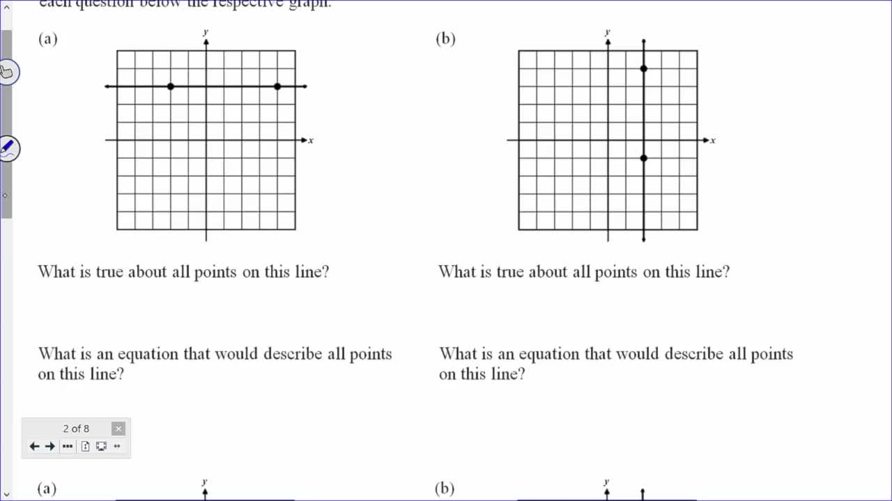 Common Core Geometry Unit 5 Lesson 5 Horizontal and Vertical Lines