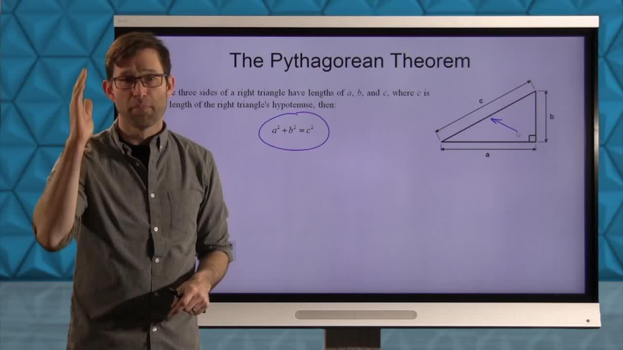 Common Core Geometry Unit 5 Lesson 6 The Pythagorean Theorem