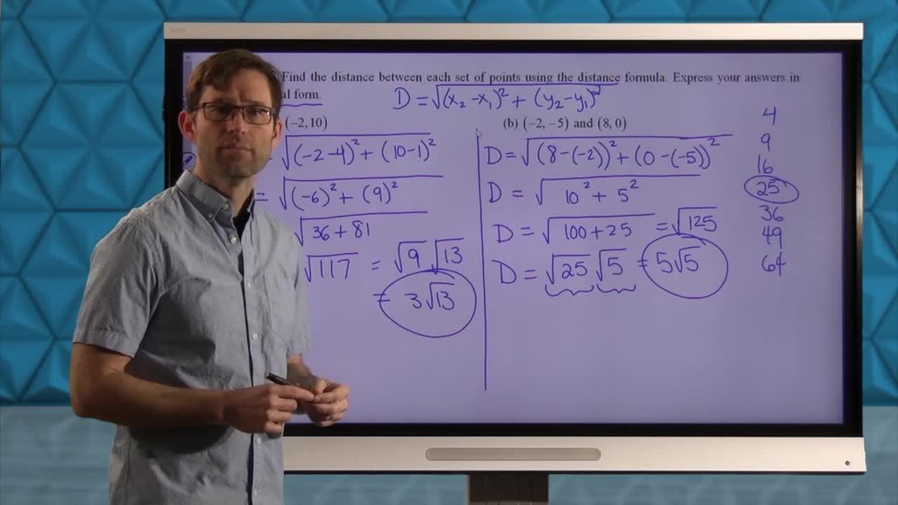 Common Core Geometry Unit 5 Lesson 7 The Distance Formula