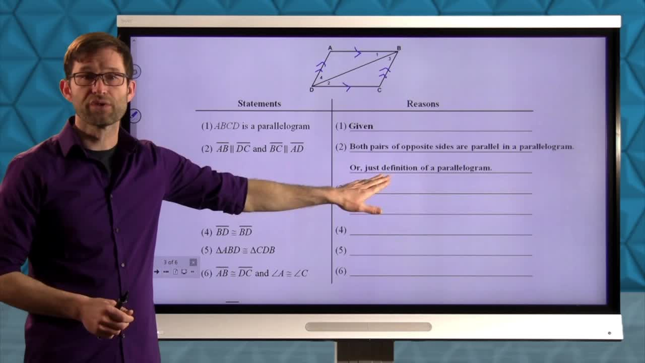 Common Core Geometry Unit 6 Lesson 2 Properties of Parallelograms