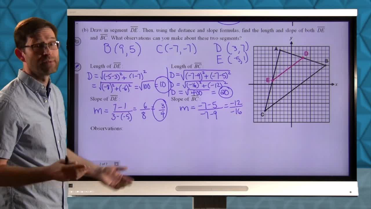 Common Core Geometry Unit 6 Lesson 4 The Midpoints of a Triangle