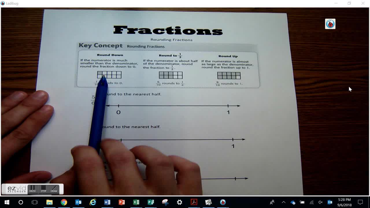 Rounding Fractions Day 28