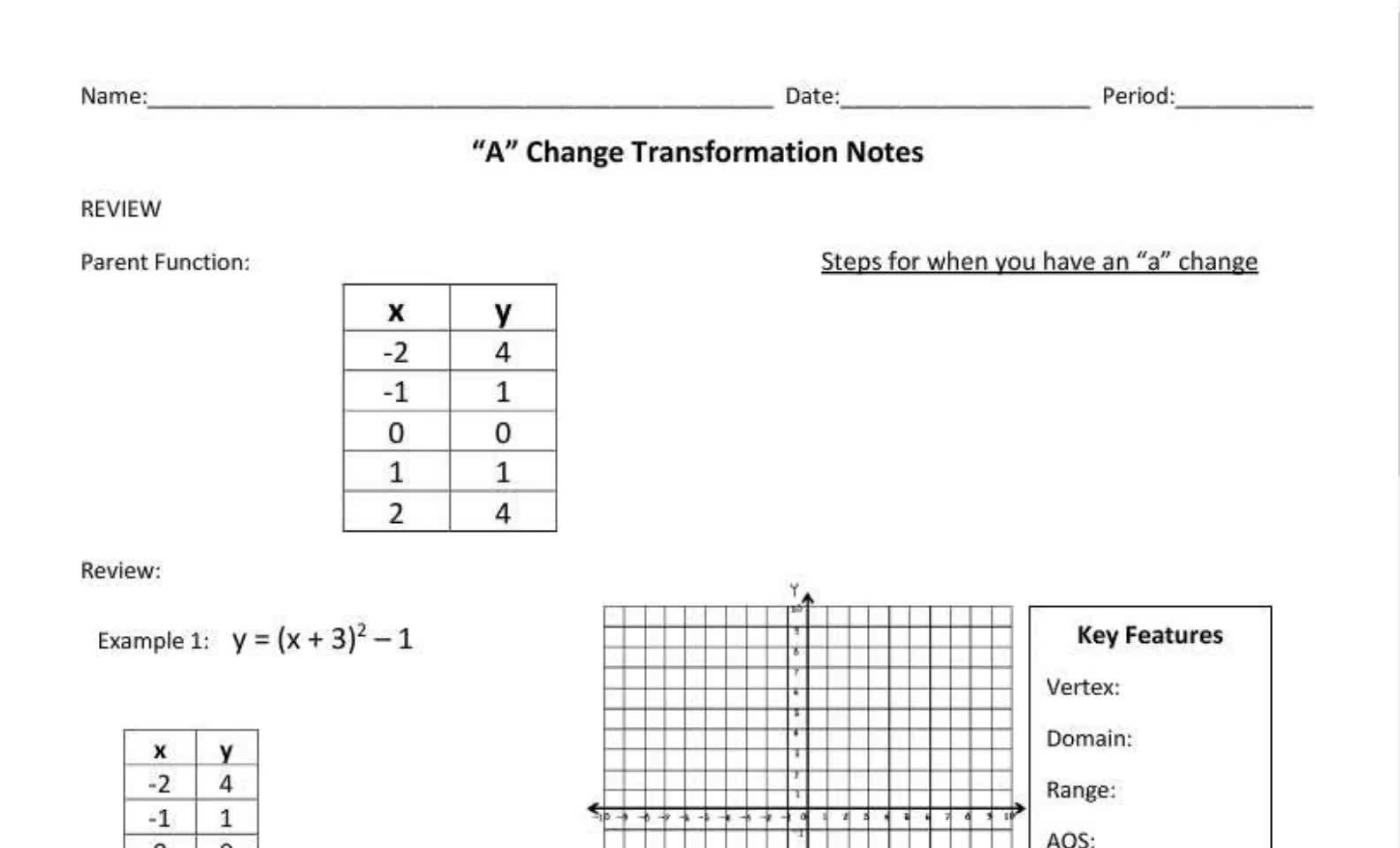 Seniors A Change Notes