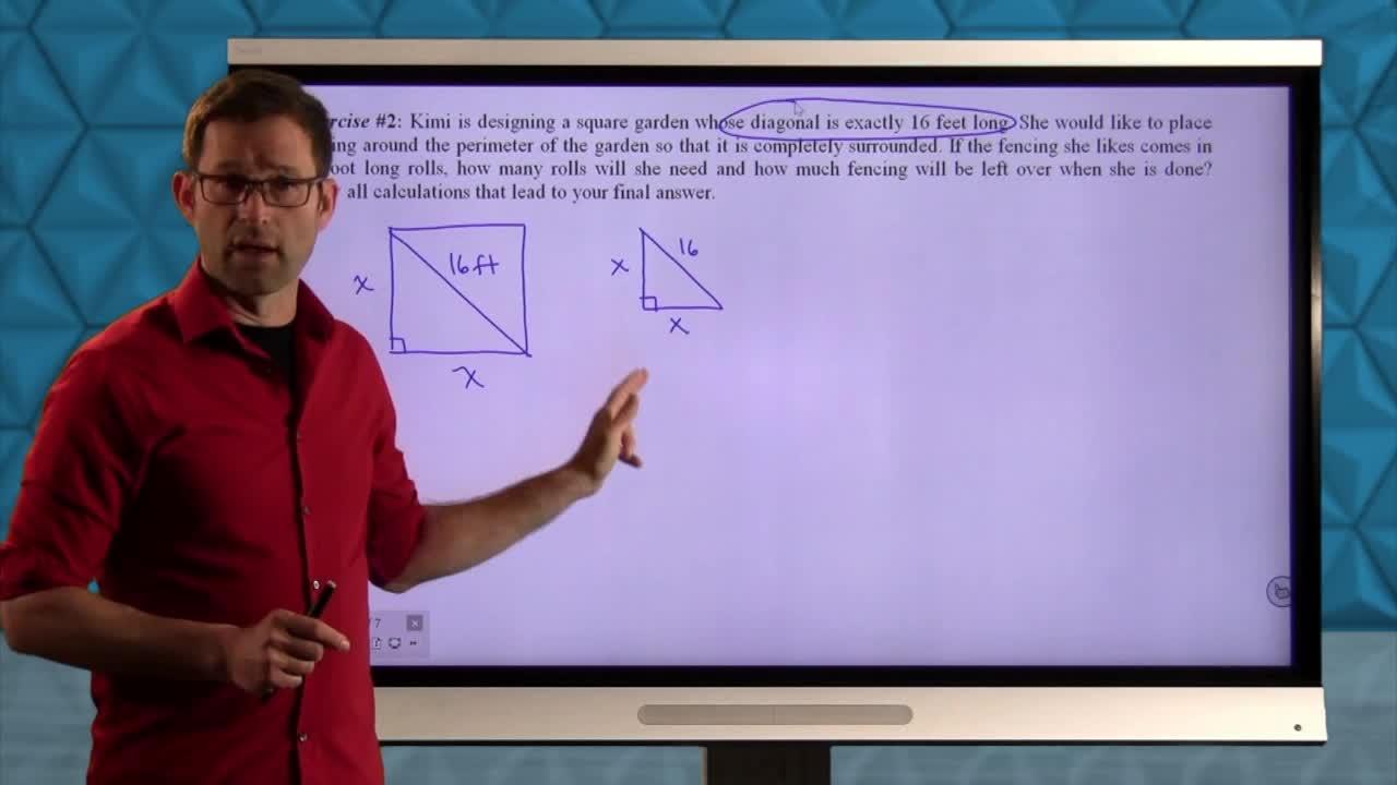 Common Core Geometry Unit 6 Lesson 7 Squares