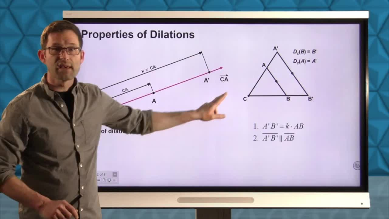 Common Core Geometry Unit 7 Lesson 2 Dilations in the Coordinate Plane