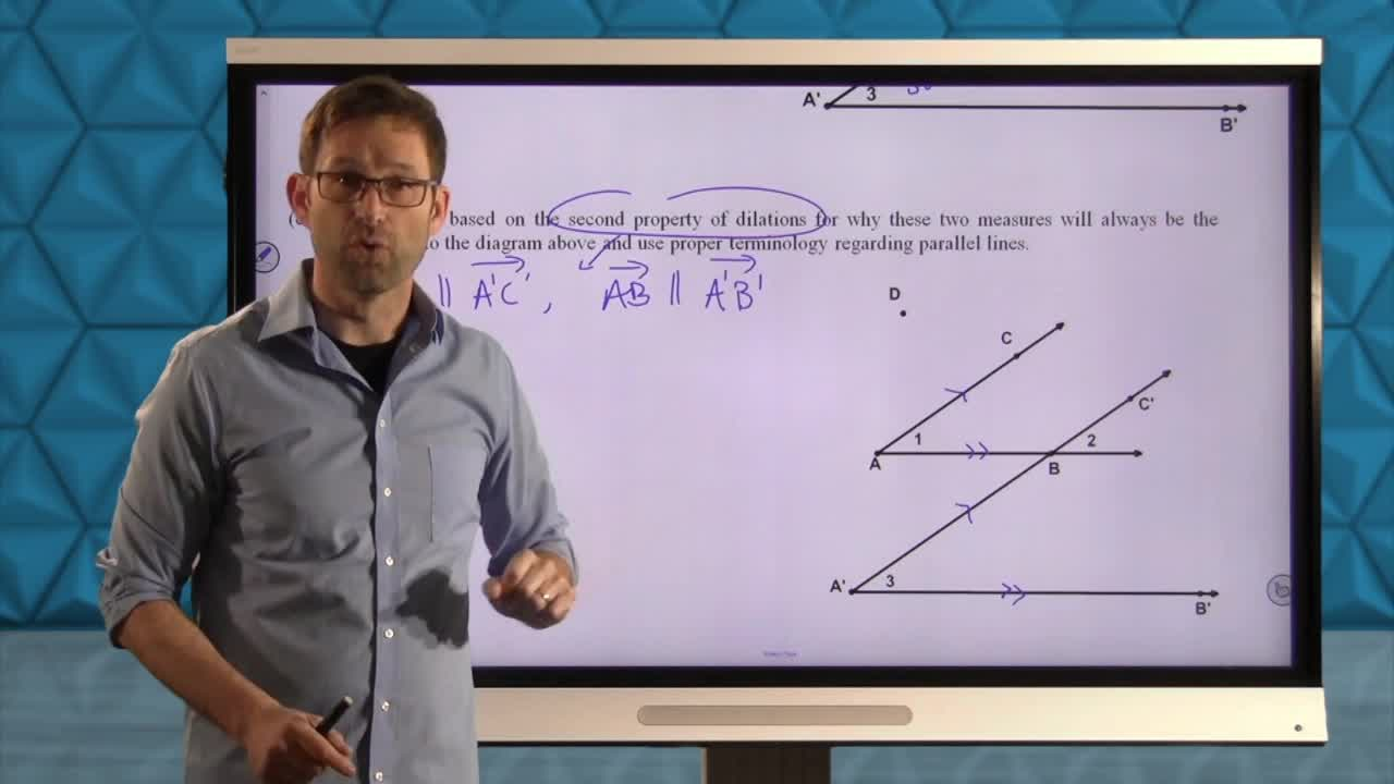 Common Core Geometry Unit 7 Lesson 3 dilations and Angles