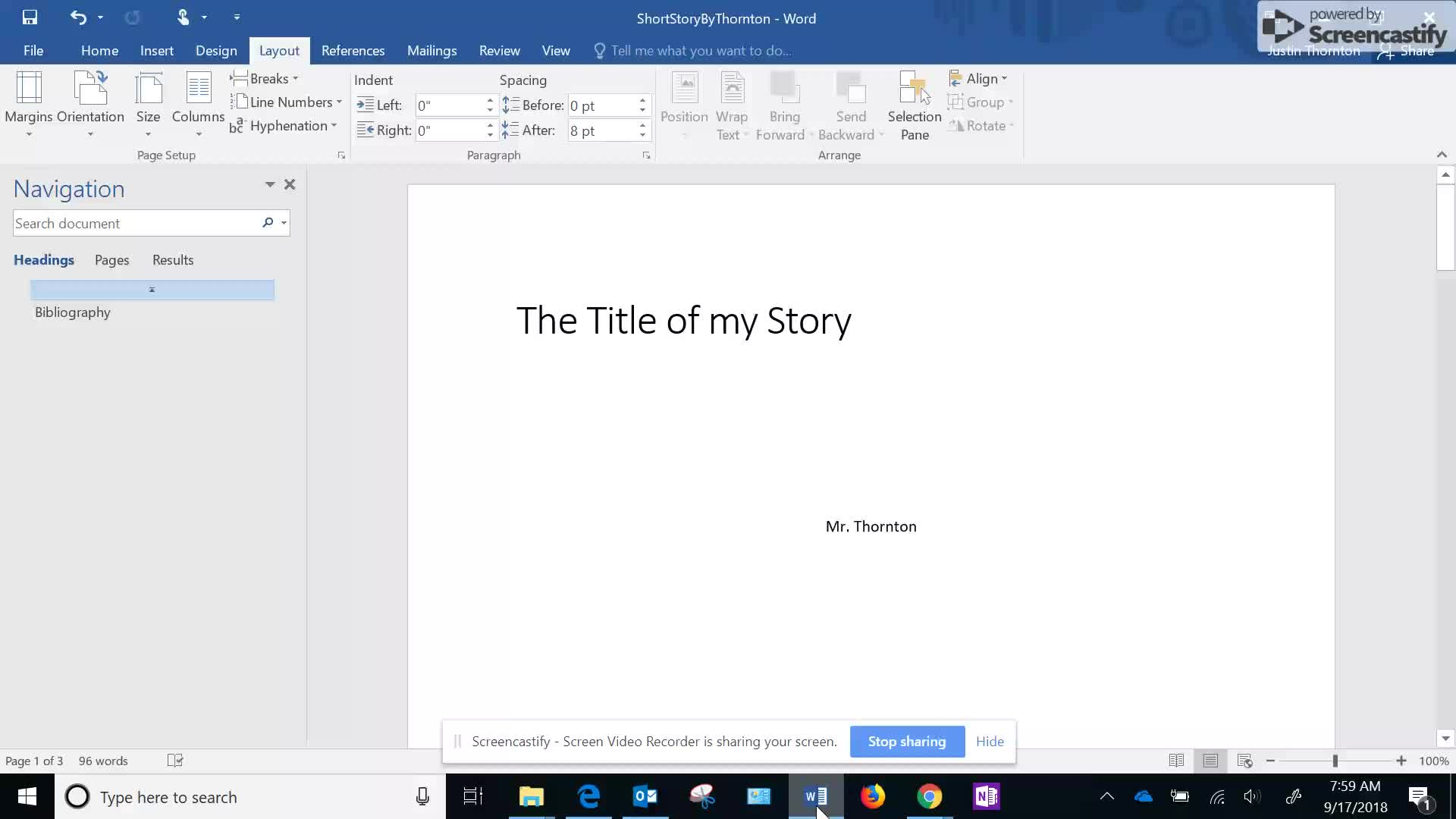 Creating a Short Story part 1-2