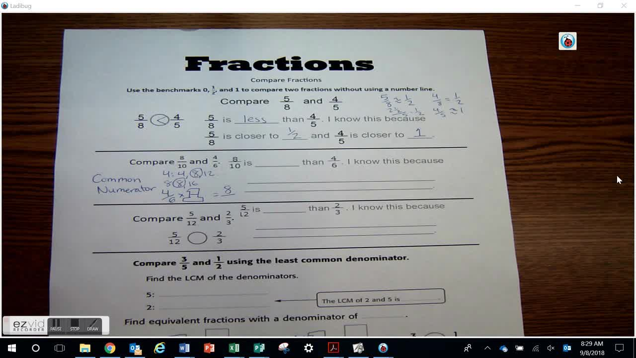 Day 30 Compare Fractions