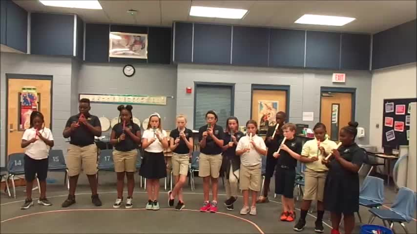 "18-19 Ms. Gibb's 5th grade class ""Hot Cross Buns"""