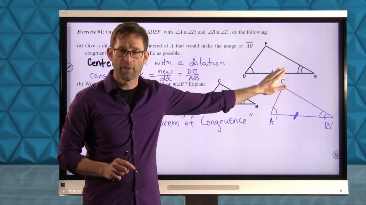 Common Core Geometry Unit 7 Lesson 5 Similarity Criteria