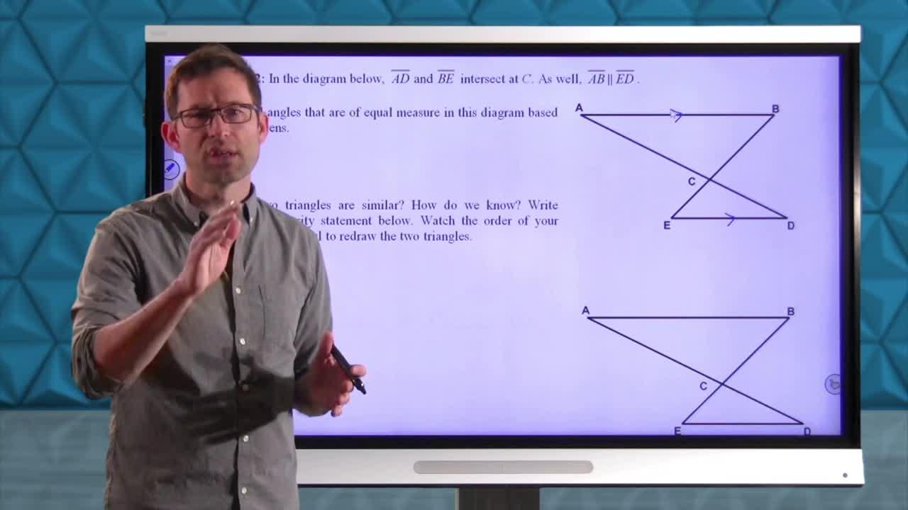 Common Core Geometry Unit 7 Lesson 7 More Similarity Reasoning