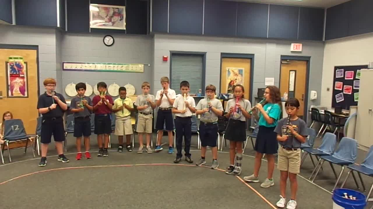 "18-19 Ms. Etts' 5th grade class ""Hot Cross Buns"""