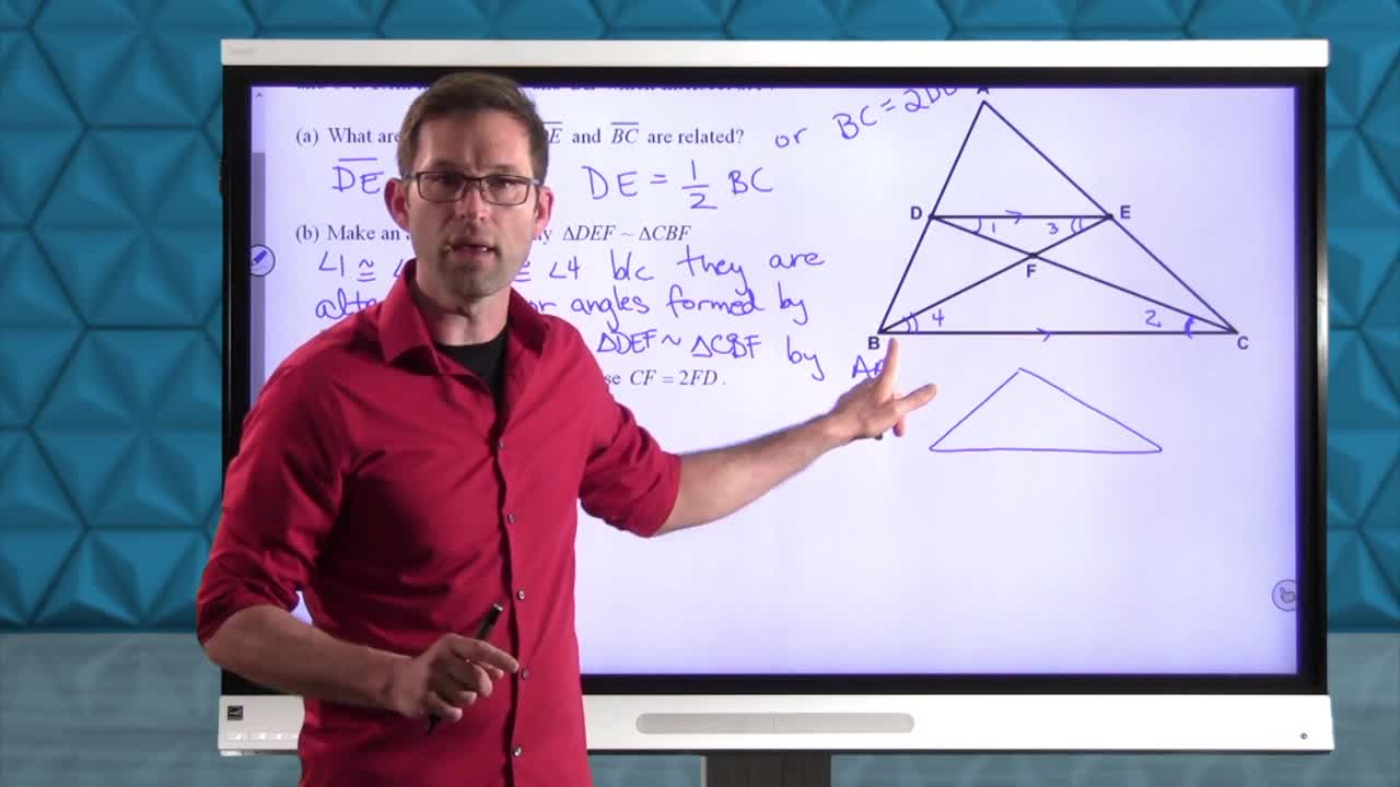 Common Core Geometry Unit 7 Lesson 10 The Medians of a Triangle