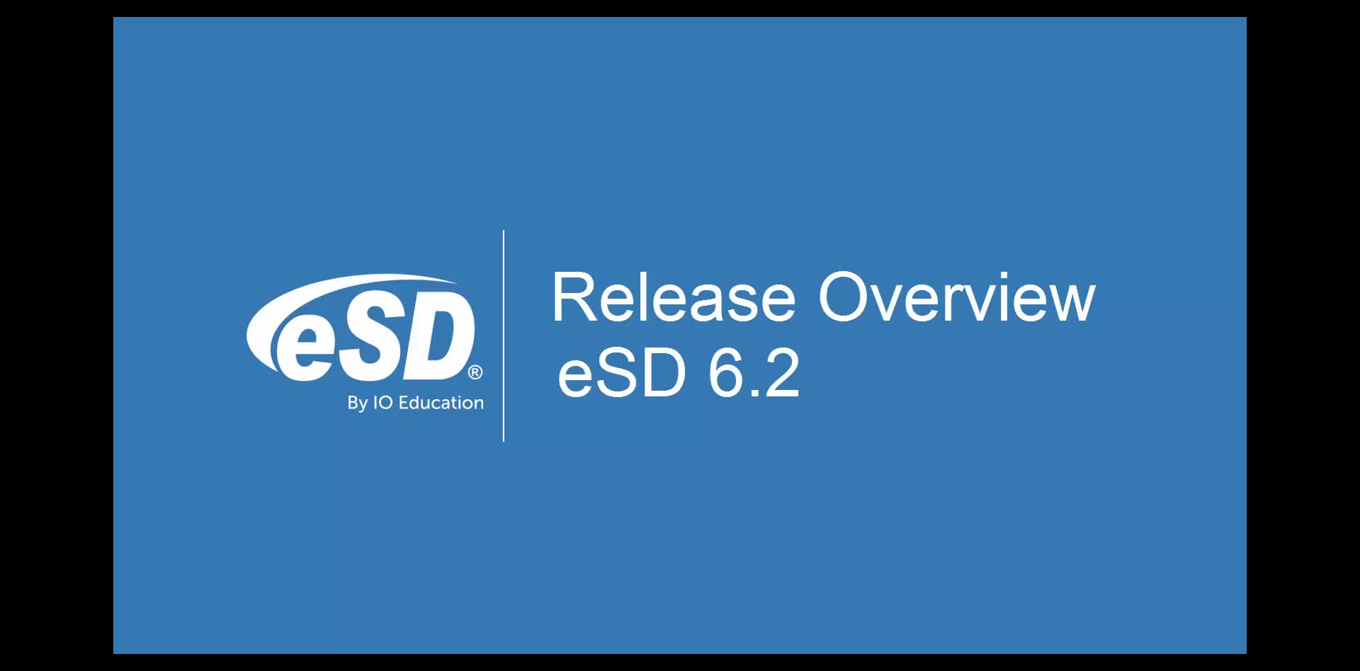eSD 6.2 Release Overview