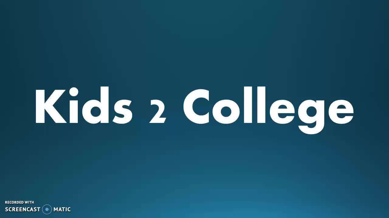 MBeran Kids2College Week 1.1