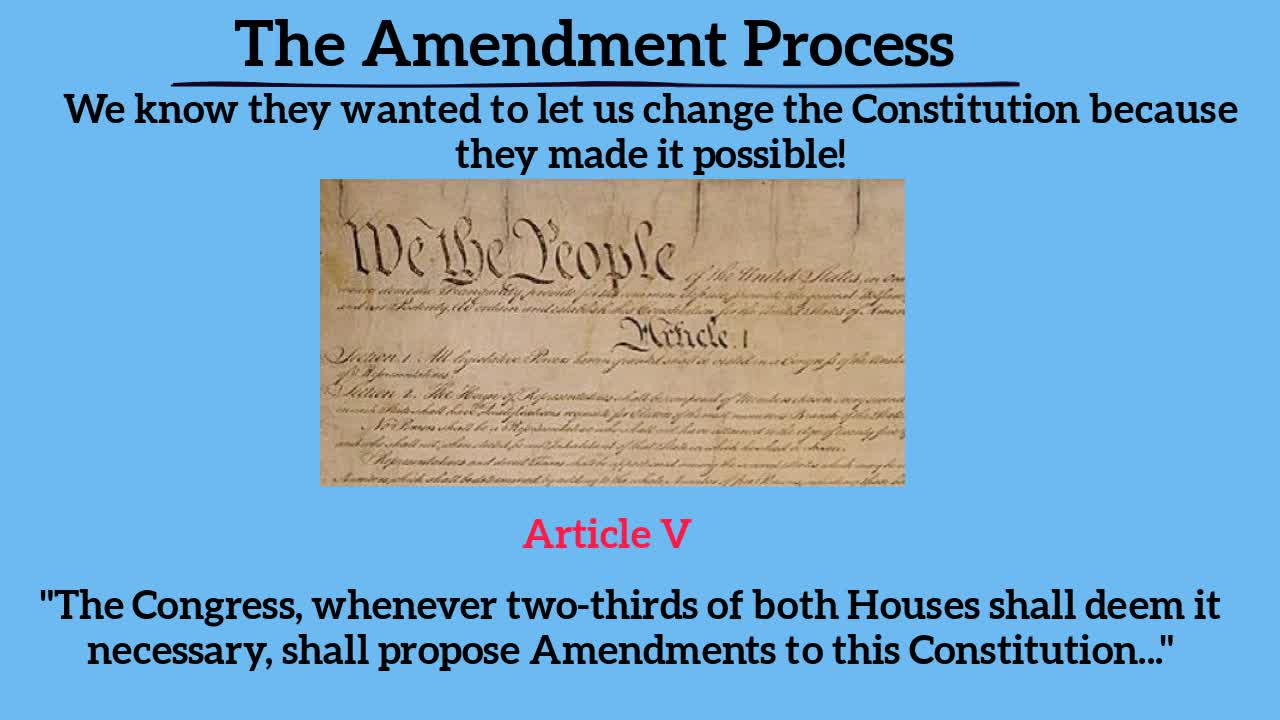 3.5 The Amendment Process
