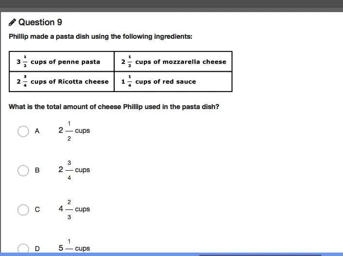Common Assessment #2 Question 9
