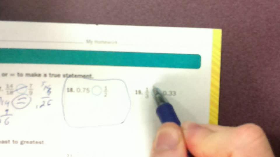 Ordering fractionspg 135-6