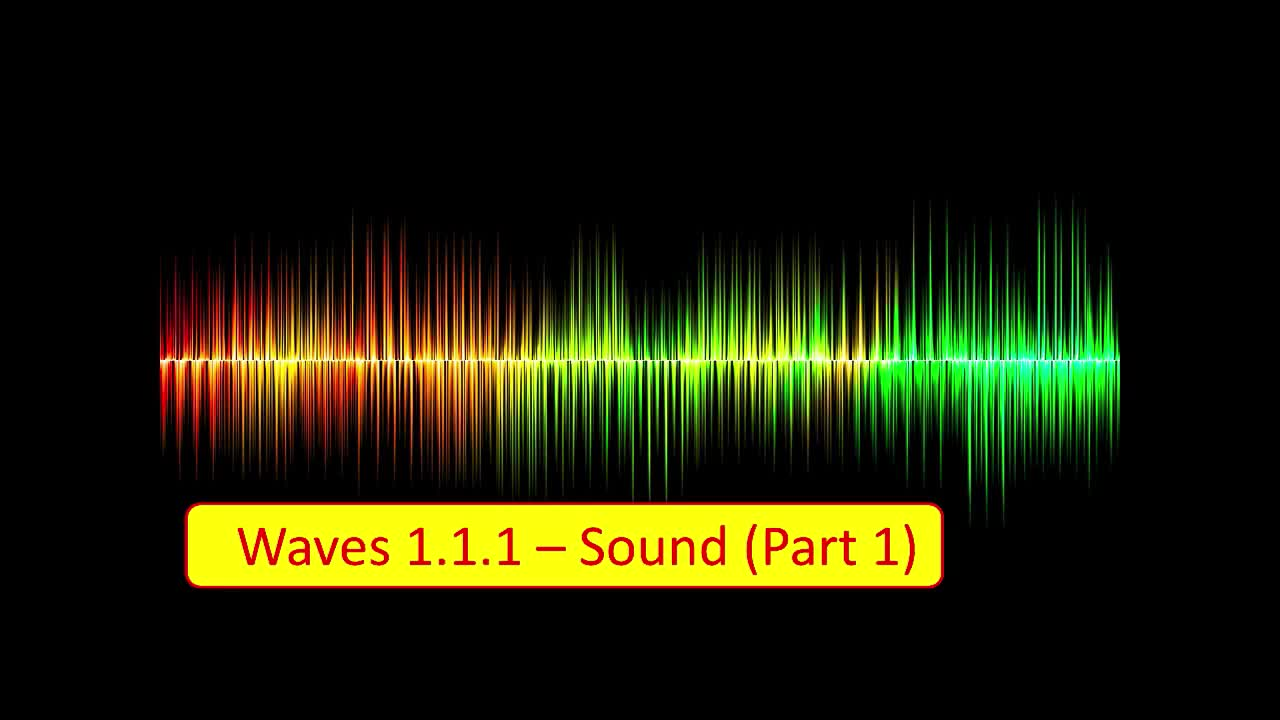 Sound - Longitudinal Waves