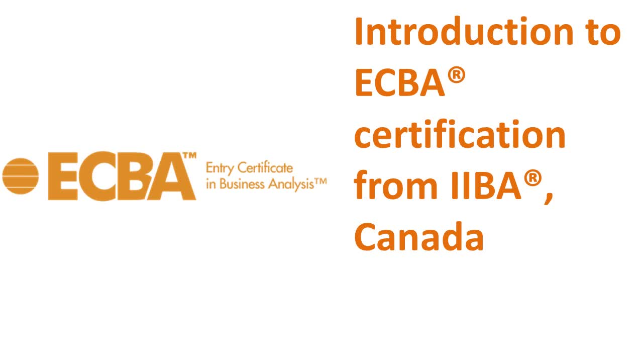 Entry Certificate In Business Analysis Ecba