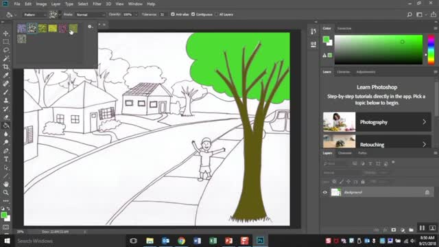 How to Use the Paint Bucket Tool in Photoshop Tutorial