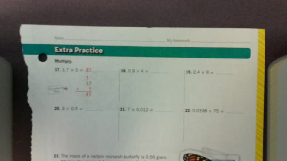 Multiplying Decimals pg 199-200