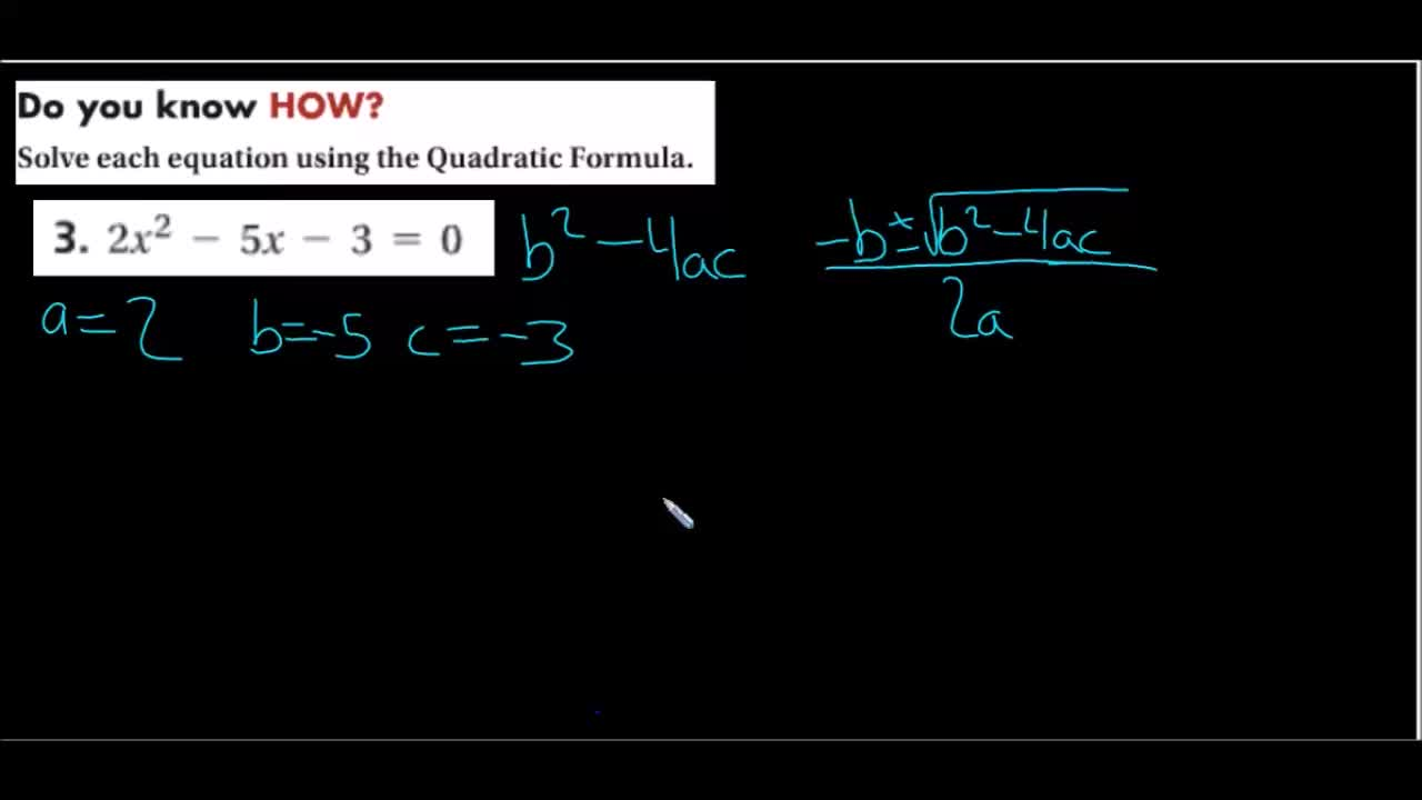 "Using the Discriminant and the Quadratic ""Super"" Formula to find real solutions"