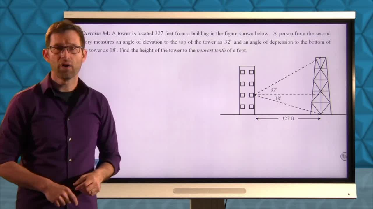 Common Core Geoemtry Unit 8 Lesson 6 More Trigonometry Applications